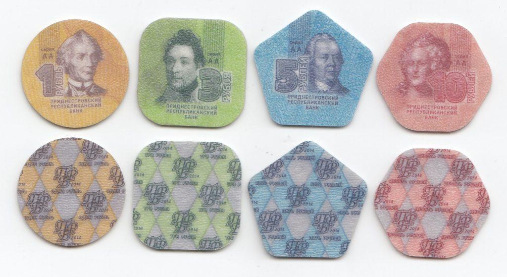 Пластиковые монеты ПМР
